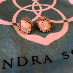 Gold/Mother of Pearl Kendra Scott Tessa Earrings